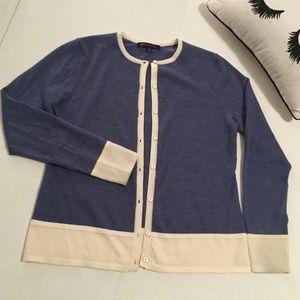 Brooks Brothers Merino Wool Cardigan Med
